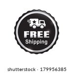 silver free shipping badge | Shutterstock .eps vector #179956385