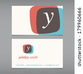 business card with alphabet... | Shutterstock .eps vector #179960666