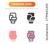 boxing glove icon isolated on...