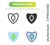 protection icon isolated on...
