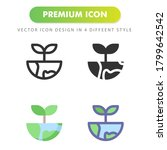 plant leaf icon isolated on...