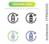 bottle icon isolated on white...