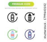 bottle icon isolated on white...