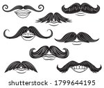 set of mustache with mouth.... | Shutterstock .eps vector #1799644195
