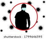 people  silhouette in a medical ... | Shutterstock . vector #1799646595