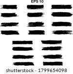 black line  grunge brush...   Shutterstock .eps vector #1799654098