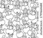 vector coloring page with cute... | Shutterstock .eps vector #1799664688