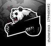mascot logo template panda no... | Shutterstock . vector #1799680492