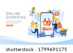 shopping online on website or...