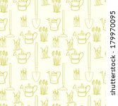 garden seamless pattern with... | Shutterstock .eps vector #179970095