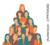 people pyramid. people... | Shutterstock .eps vector #1799704282