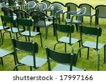green chairs in a park | Shutterstock . vector #17997166