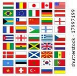 vector flags | Shutterstock .eps vector #17997199