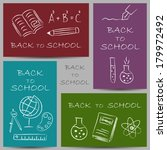 illustration of back to school... | Shutterstock .eps vector #179972492