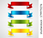 colorful ribbons set | Shutterstock .eps vector #179975276