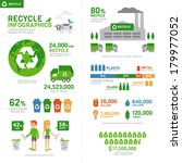 recycle infographic  | Shutterstock .eps vector #179977052