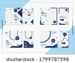 bundle of minimalist social... | Shutterstock .eps vector #1799787598