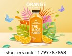 cold pressed orange juice ad...   Shutterstock . vector #1799787868