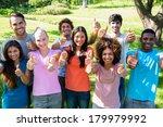 group portrait of happy friends ...   Shutterstock . vector #179979992