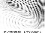 Abstract Halftone Wave Dotted...