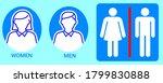 toilet vector icons set  boy or ... | Shutterstock .eps vector #1799830888