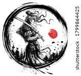 A Beautiful Samurai Girl In...