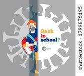 teen schoolboy with backpack ... | Shutterstock .eps vector #1799875195