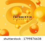 yellow trendy design template.... | Shutterstock .eps vector #1799876638