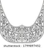 hand drawing vintage baroque... | Shutterstock .eps vector #1799897452