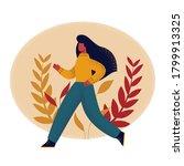 vector flat cartoon character... | Shutterstock .eps vector #1799913325