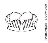 beer mugs icon vector...   Shutterstock .eps vector #1799949925