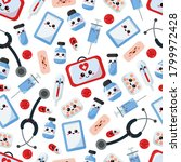 medical seamless pattern with... | Shutterstock .eps vector #1799972428
