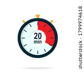 20 minutes timer. stopwatch... | Shutterstock .eps vector #1799974618