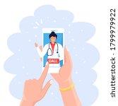 online doctor. virtual medicine.... | Shutterstock .eps vector #1799979922