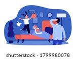 dad watching little daughter... | Shutterstock .eps vector #1799980078