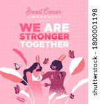 breast cancer awareness month... | Shutterstock .eps vector #1800001198