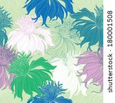 hand drawn seamless floral...   Shutterstock .eps vector #180001508