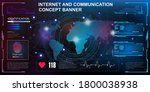internet and communications....   Shutterstock .eps vector #1800038938