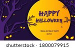 happy halloween banner with... | Shutterstock .eps vector #1800079915