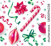 seamless pattern with christmas ... | Shutterstock .eps vector #1800096238