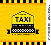taxi symbol with checkered... | Shutterstock .eps vector #180010532
