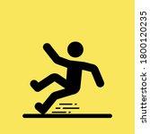 wet floor sign  slippery floor... | Shutterstock .eps vector #1800120235