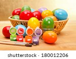 Постер, плакат: Colorful painted Easter eggs