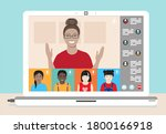 multi ethnic class of young...   Shutterstock .eps vector #1800166918