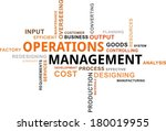 a word cloud of operations... | Shutterstock .eps vector #180019955