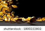 gold coins falling on black... | Shutterstock . vector #1800222802