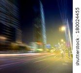 night car speed blur background | Shutterstock . vector #180024455