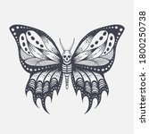 skull butterfly vector...