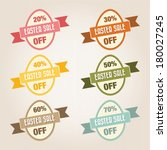 easter sale text  vintage style   Shutterstock .eps vector #180027245