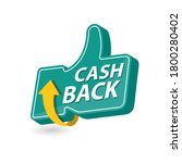 vector cash back icon isolated... | Shutterstock .eps vector #1800280402